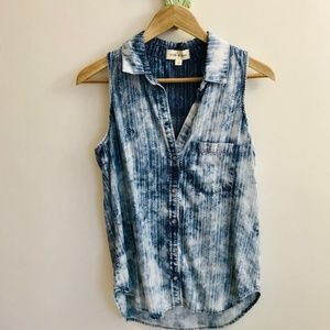 NWOT Anthropologie | Cloth&Stone Chambray Wash Top